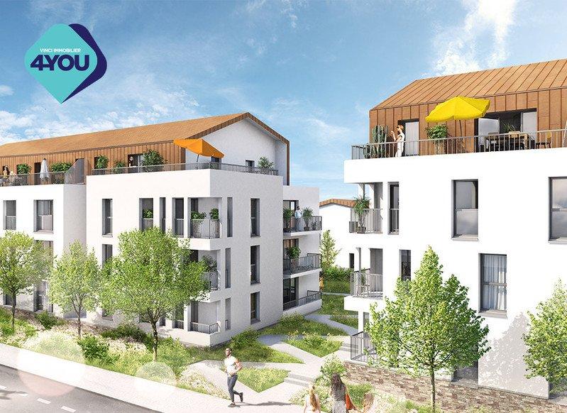 44220 COUERON, Appartement environ 61,86 m2, composé de 3 pièces dont 2 chambres. 242 900