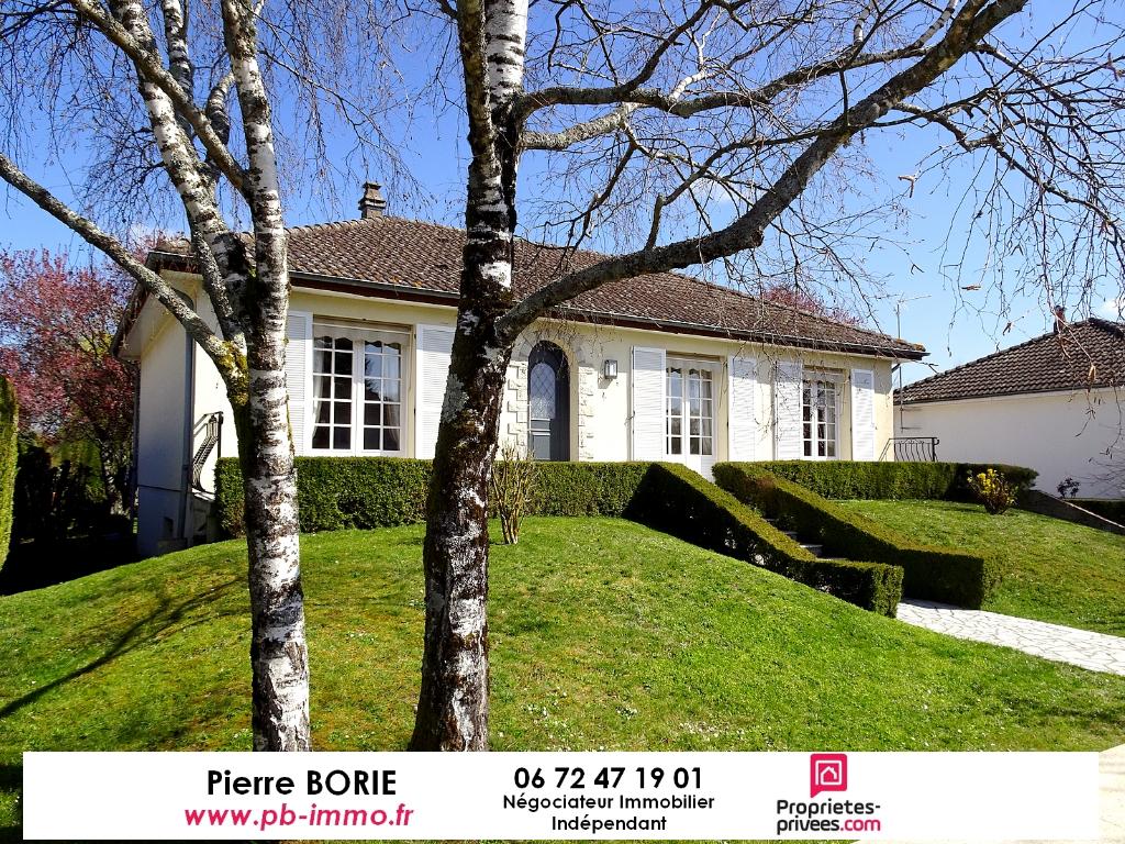 Exclu : Maison Le Poinçonnet, 5 pièces, plain-pied, sur sous-sol et non mitoyenne