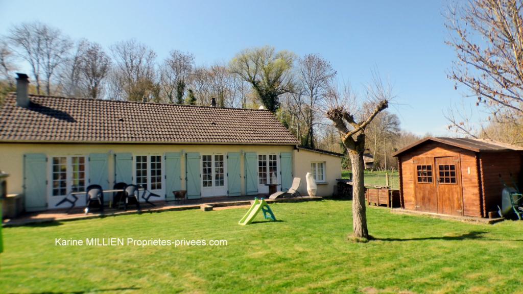 DREUX 28100 Maison individuelle de plain-pied - 3 chambres - Cabanon en bois - Terrain - 171 000  HAI