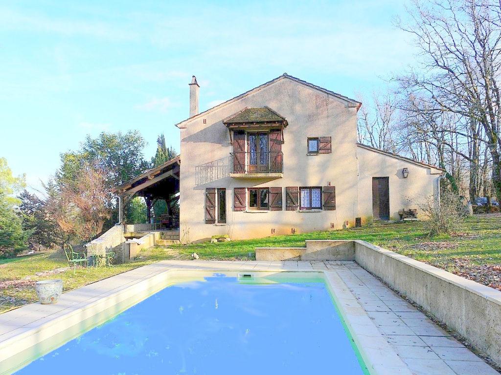 Maison région de Cahors avec piscine