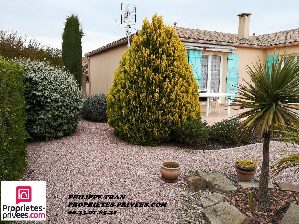 Villa  4 faces de plain pied T5 de 130 m2 sur 612m² de jardin