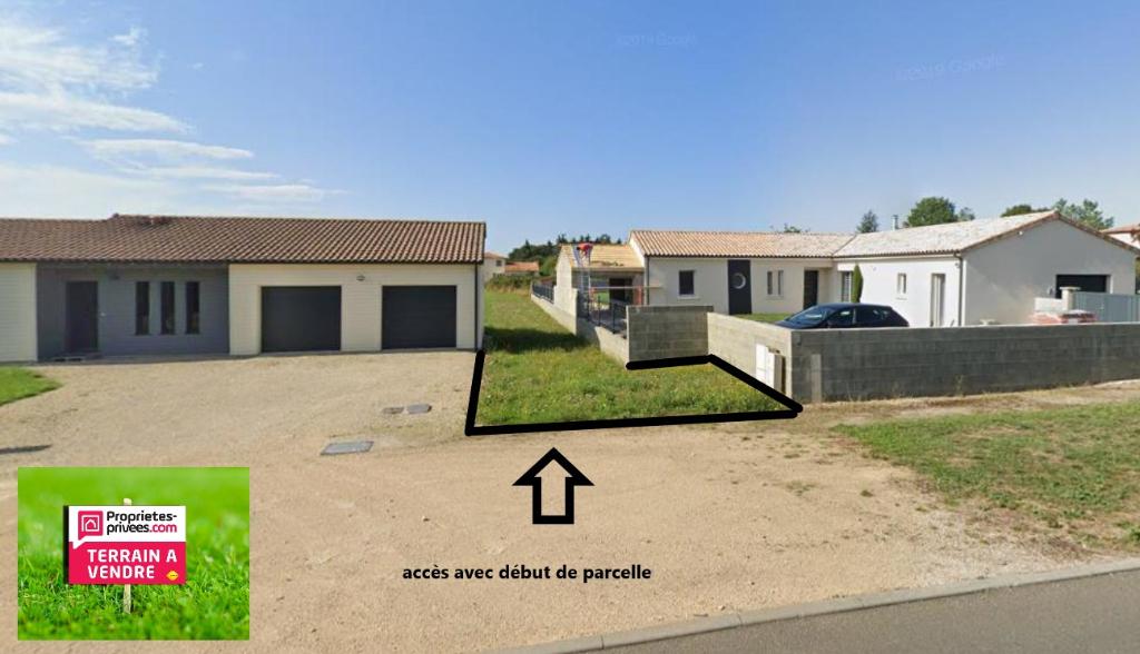 Terrain viabilisé de 1711 m²