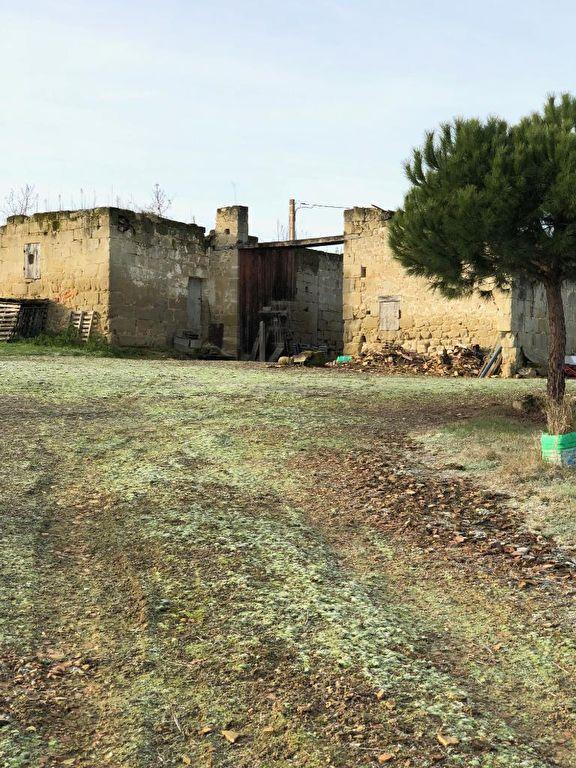 Ancienne bâtisse de 250m2 à reconstruire sur 1 hectare, vue 360° sur la campagne