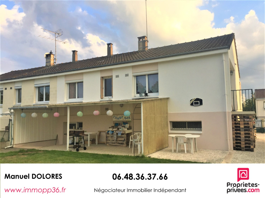 36000 Chateauroux - PMC - Maison 3 pièces 75 m²