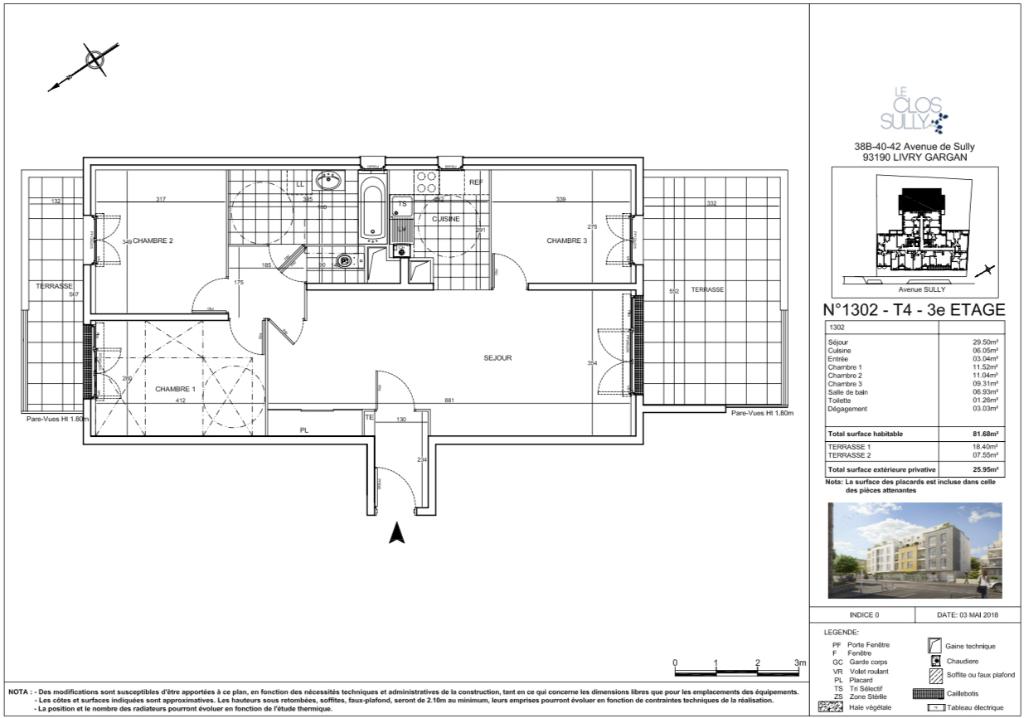 Appartement T4 - 81m2 - LIVRY GARGAN (93190)