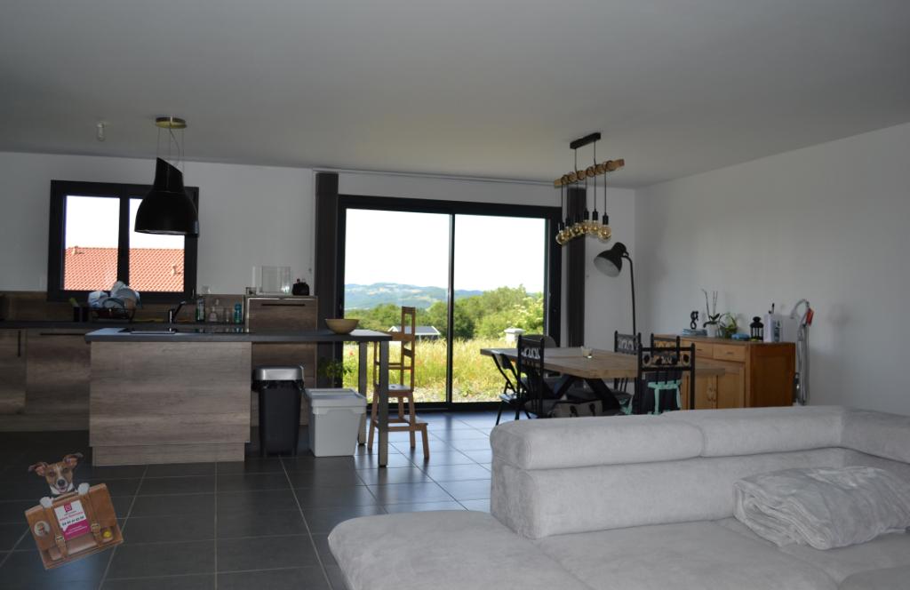 Maison plain-pied neuve, 108 m², avec jardin, garage et vue panoramique