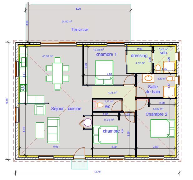 Villa Santa Maria Poggio 4 pièce(s) 100 m2