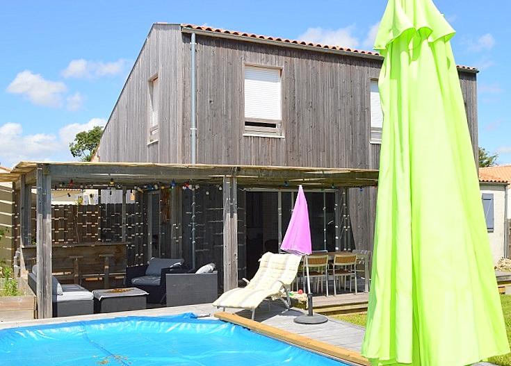 Maison La Rochelle 150 m2 4ch jardin piscine