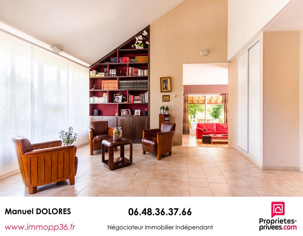 36130 DEOLS - Villa de 206 m²  coup de coeur