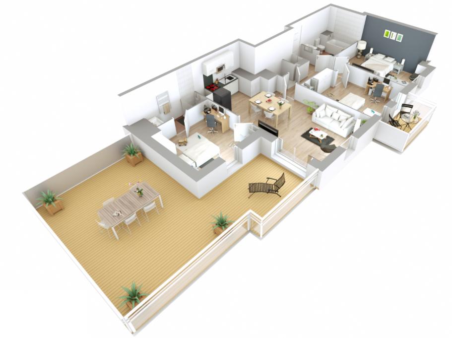 Appartement T4 - 80m2 - ROISSY EN BRIE (77680)