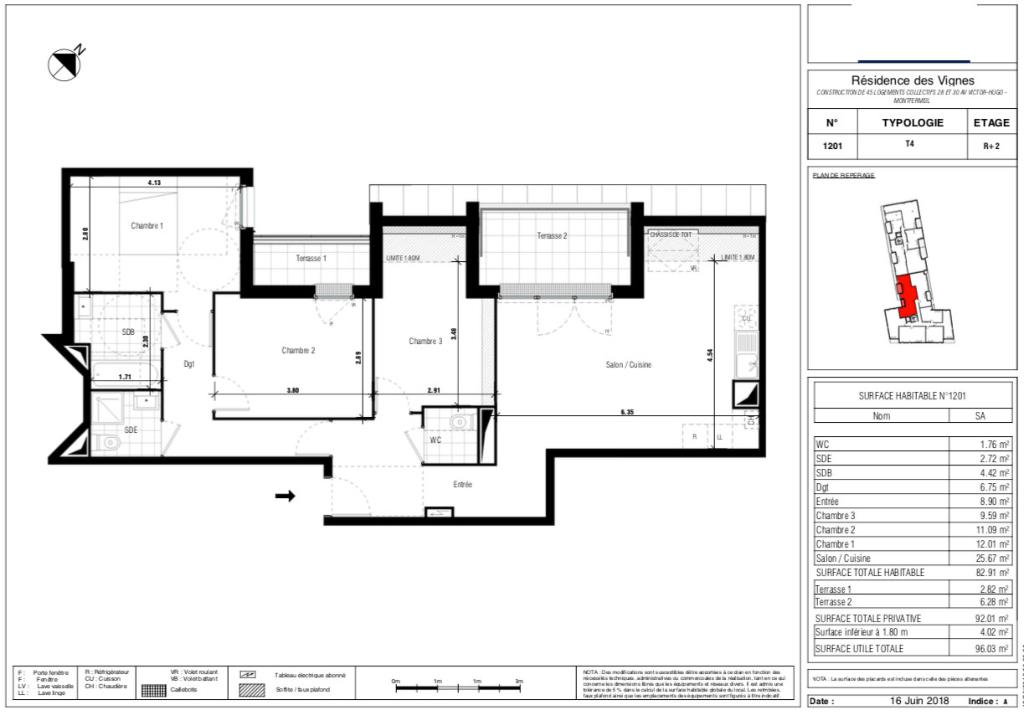 Appartement T4 - 82m2 - 93370 MONTFERMEIL