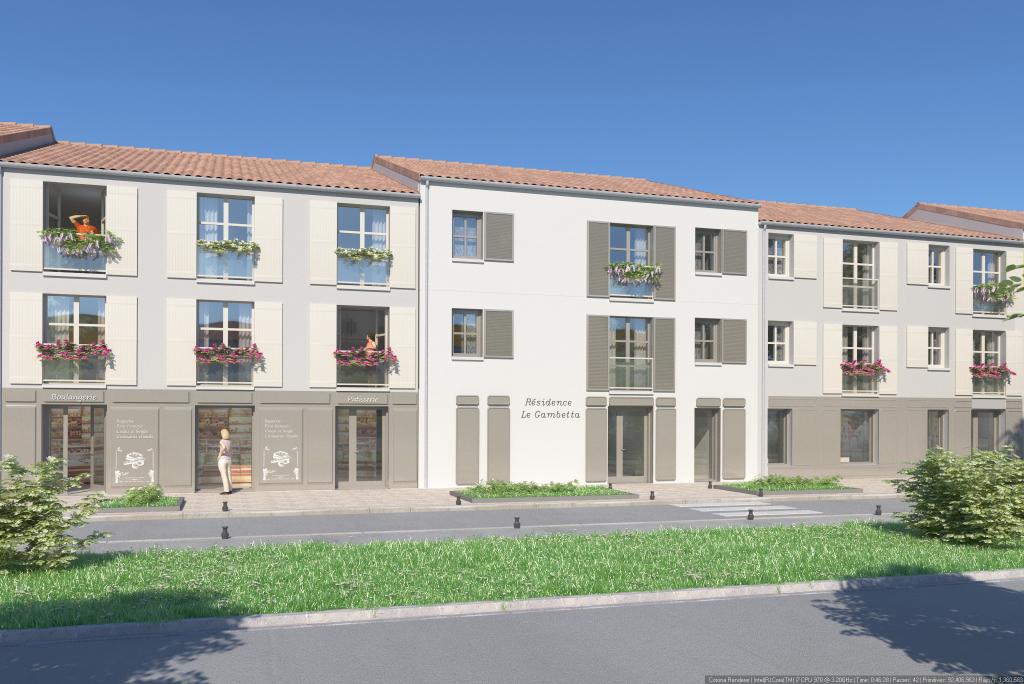 Île d' Oléron - 17- Saint Pierre d' Oléron - Appartement Neuf 3 pièces de 57m2, 2 Chambres, 1er étage avec Loggia de 9m2 et 2 places de parking