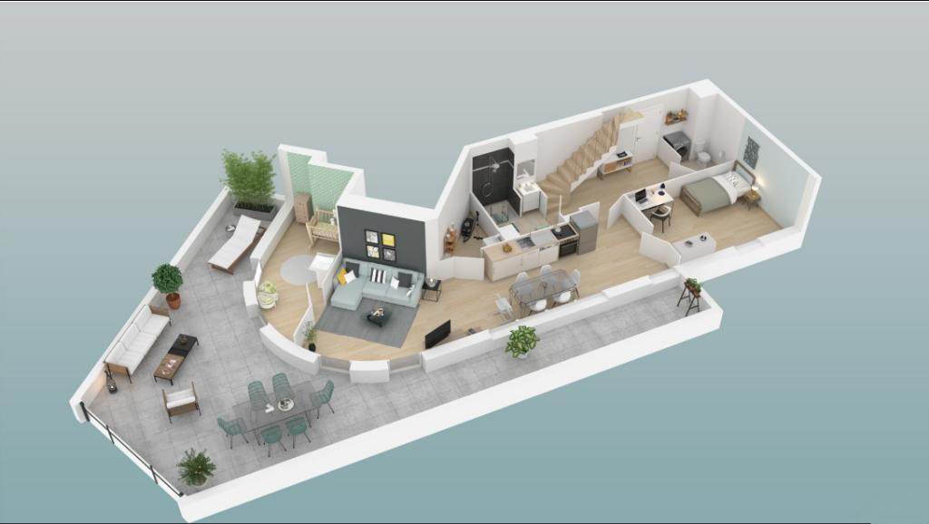 Exclusivité - A VENDRE Appartement 4 pièce(s) en Duplex 95.13 m2 Villenave d'Ornon (33140)