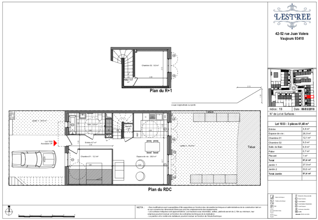 Appartement T3 - 61m2 - VAUJOURS (93410)