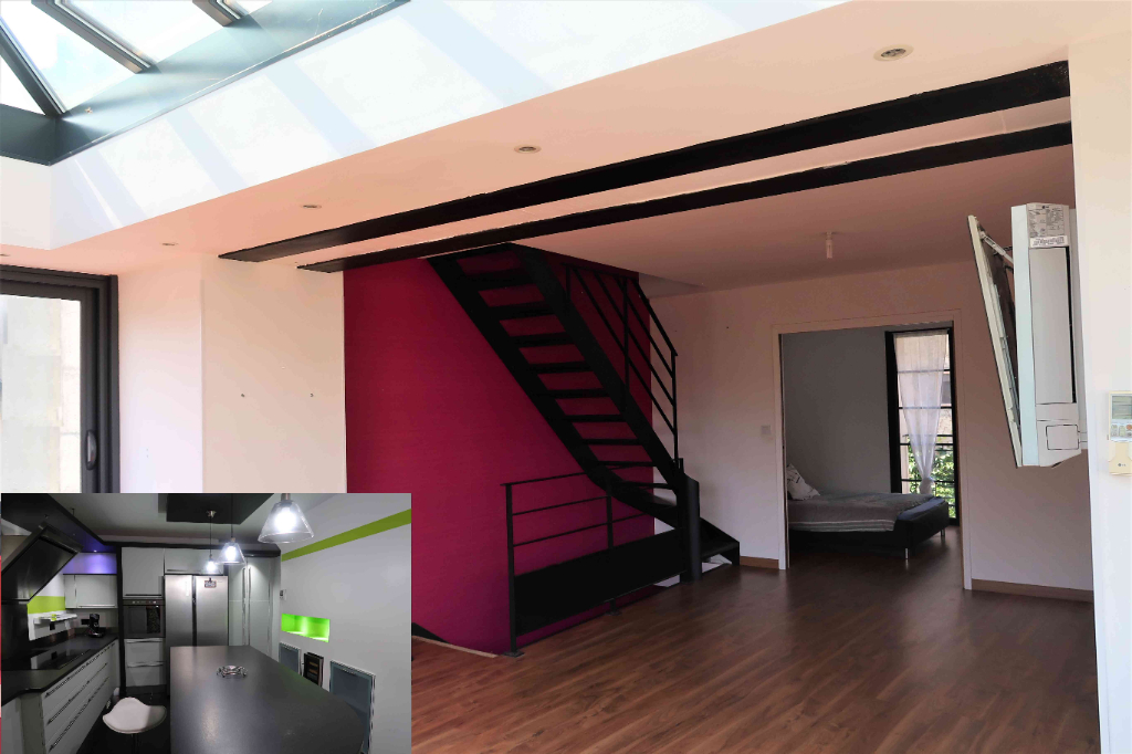 Maison de village rénovée type loft