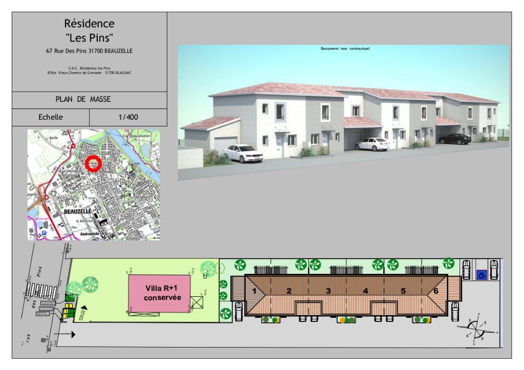 Maison Neuve Beauzelle 4 pièces 86.64 m2