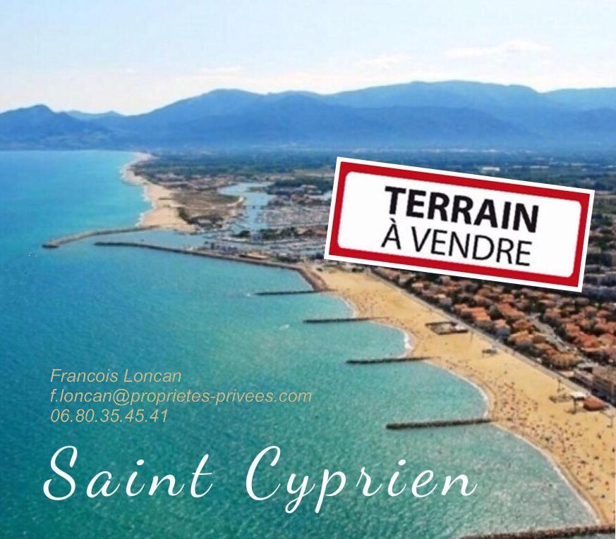 Saint Cyprien 66750, Terrain à bâtir 4 faces 594 m²