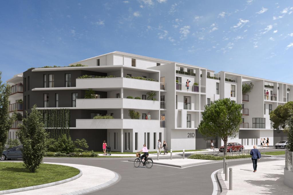 La Rochelle - Aytré - Dept 17- Appartement Neuf T1/2 42.95m2,3 ème Etage, 2  Balcons