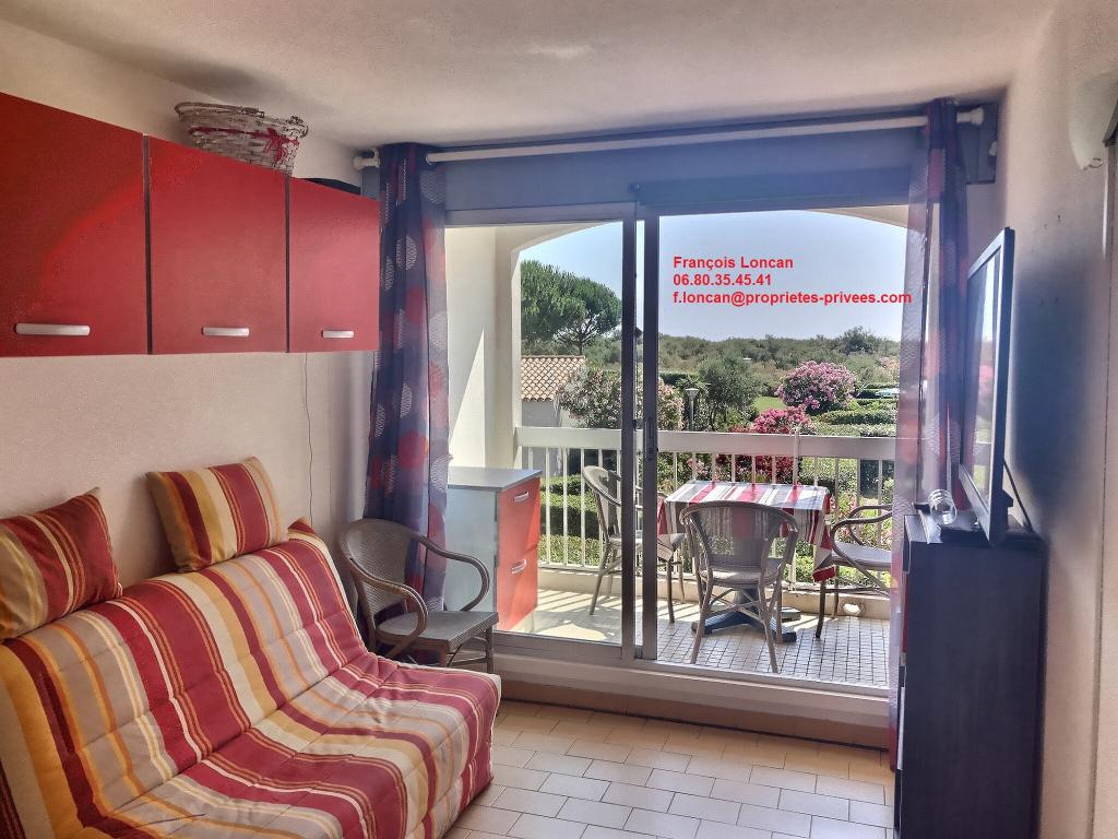 Saint Cyprien Plage 66750, Appartement 24m² environ + blacon, vue sur jardin arboré face mer