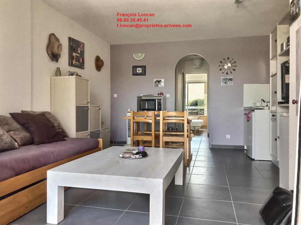 Saint Cyprien Plage 66750, Appartement T2 traversant d'Environ 38m², bord de mer et face lagune