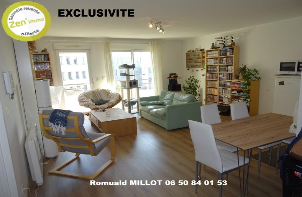 Appartement 70m2  avec terrasse 3 pièces en centre ville