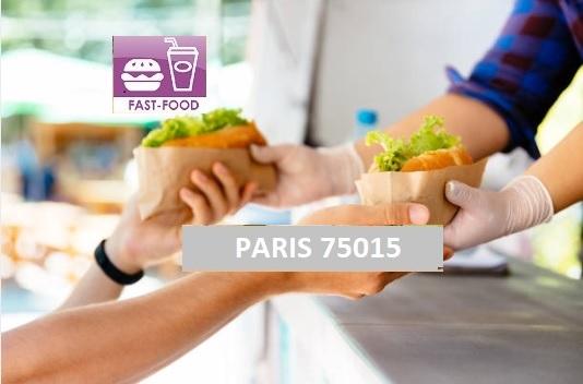 PARIS 75015 Traiteur, restauration rapide, vente à emporter, crêperie