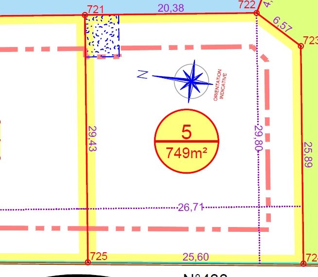 Terrain à bâtir, 750m², viabilisé, lot  N°5