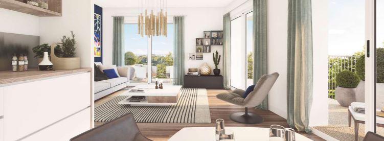 Appartement à vendre Amiens  3 pièces 60.3 m2 avec balcon terrasse