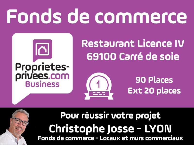 69100 VILLEURBANNE -  Restaurant Bar 100 Couverts