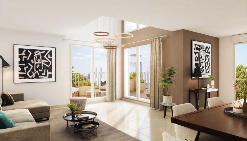 Appartement T4 de 84.5 avec balcon de 13.40