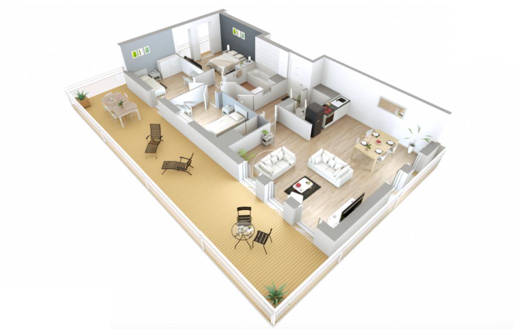 Appartement T4 - 83m2 - ROISSY EN BRIE (77680)