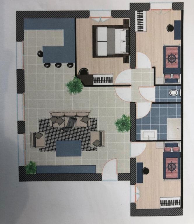 Plage à pied , maison  4 pièces avec terrasse et jardin