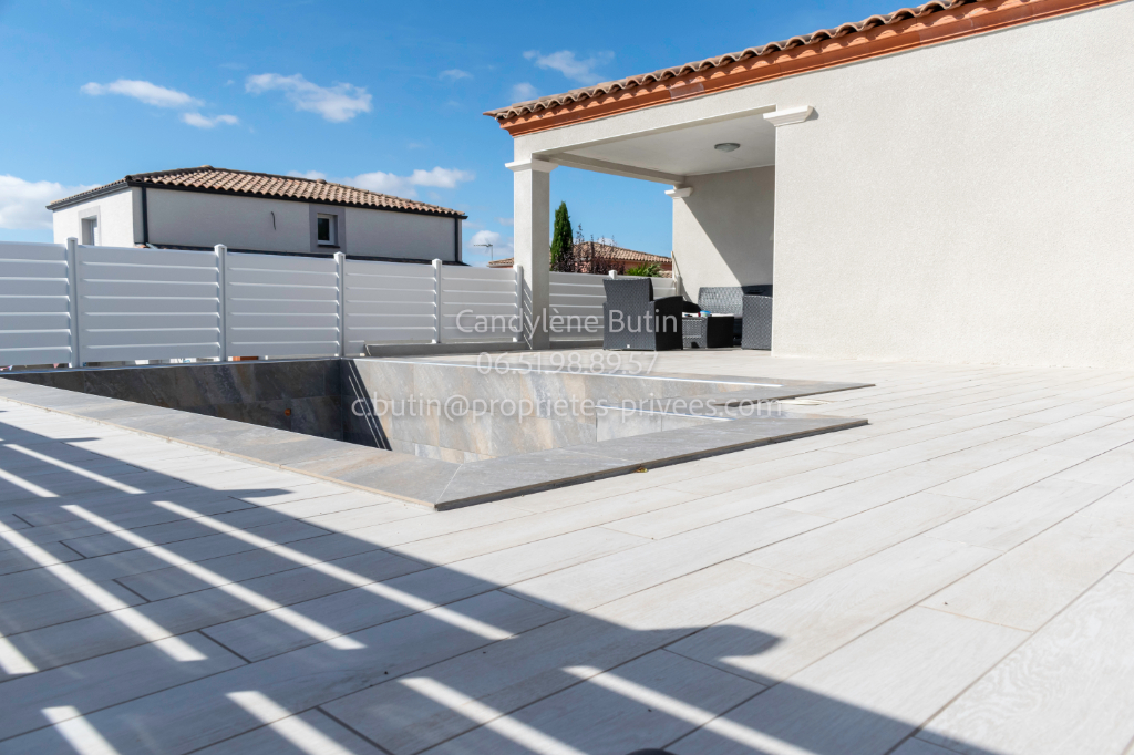 Belle villa T5 d'architecte de 161m² avec grand garage et piscine