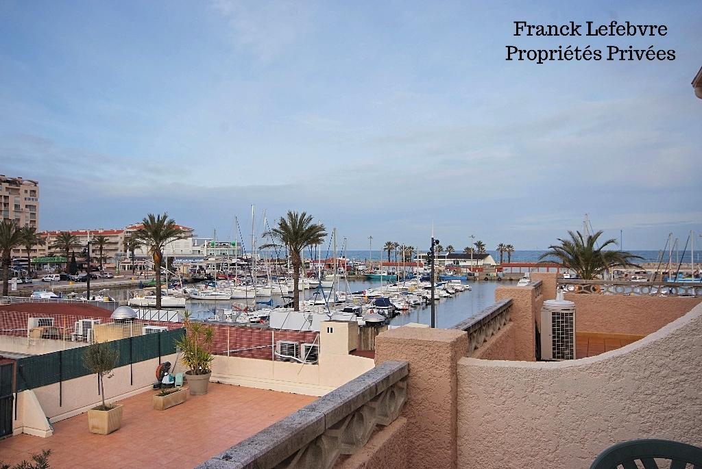 Saint Cyprien port studio avec vue mer avec garage + parking
