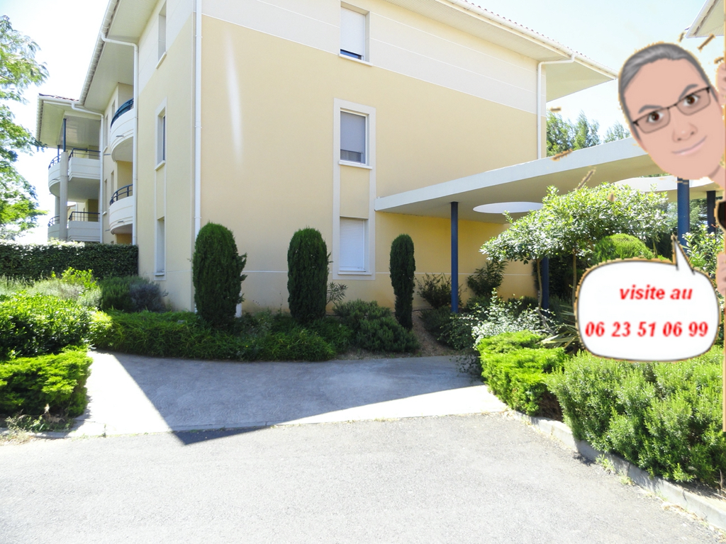 Appartement T2 beziers avec jardin privatif et parking