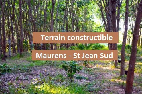 Terrain 4500 m² à batir St Jean d'Heyraud commune rattachée à Maurens