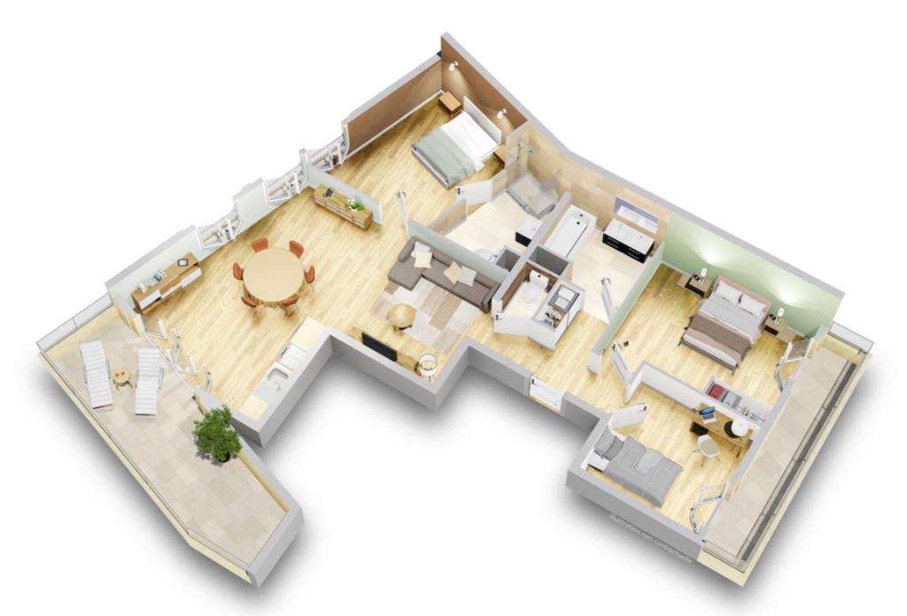 T4 - Terrasse - Dernier étage - 93140 Bondy