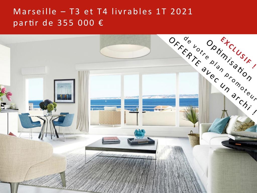 T4 neuf traversant Marseille 8ème