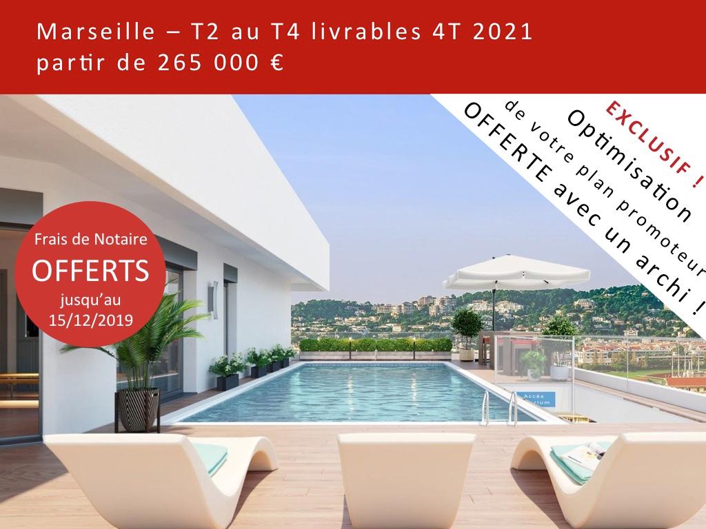 Appartement T3 neuf , Piscine, Marseille 13008