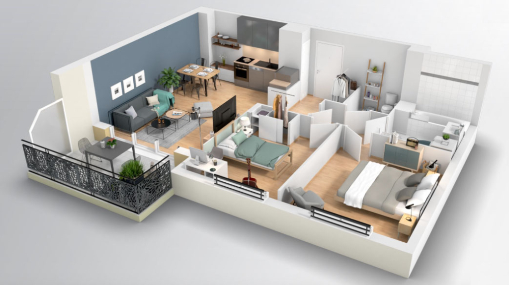 Appartement T3 - 59m2 - DAMMARIE-LES-LYS (77190)