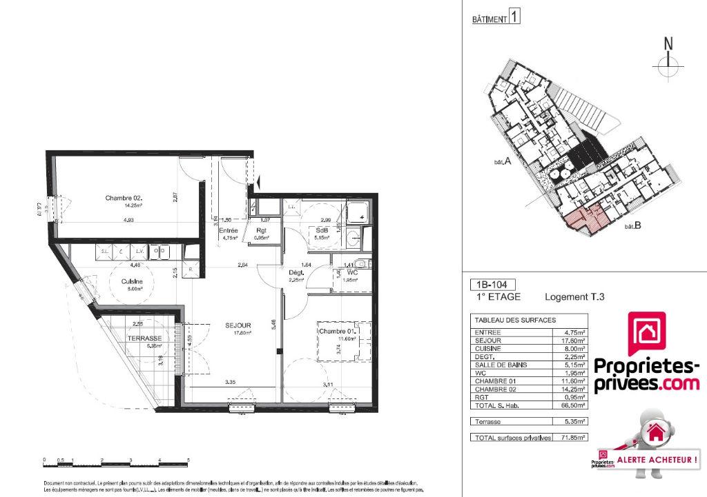 Appartement neuf avec joli balcon couvert et stationnement privatif fermé