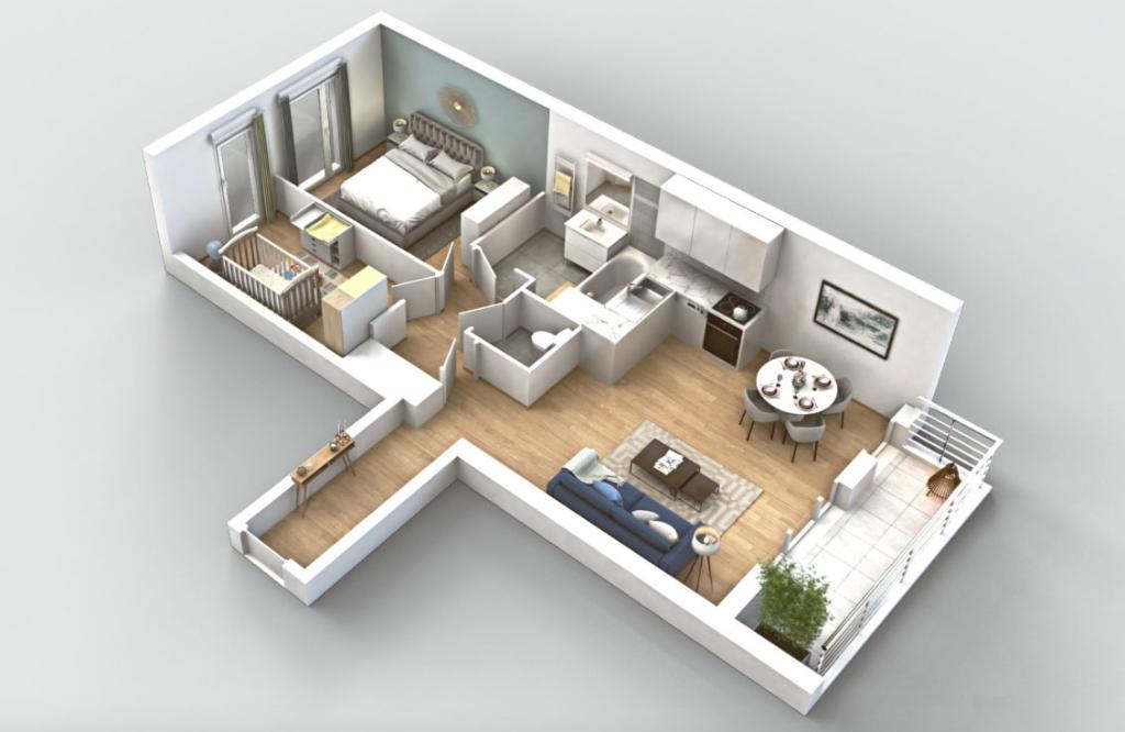 Appartement T3 - 64m2 - Neuilly Plaisance  (93360)