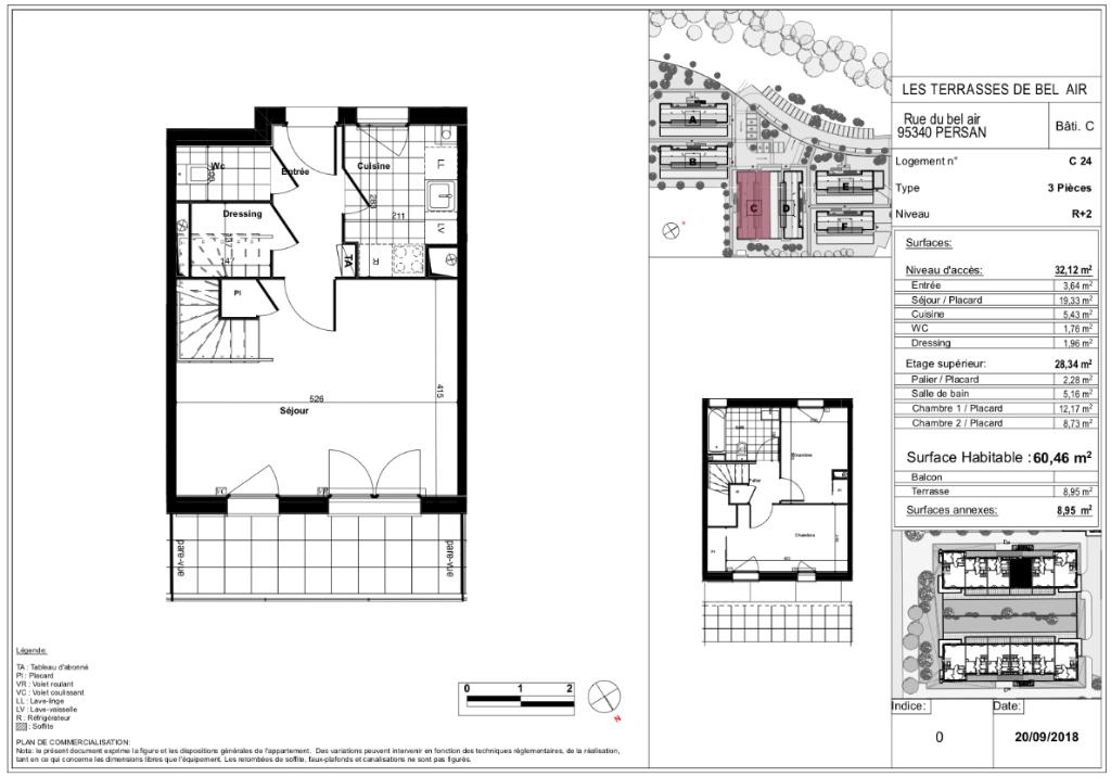 Appartement T3 duplex - 60m2 - PERSAN (95340)