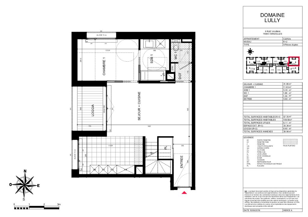 T5 Duplex - 109m2 - Terrasse 40m2 - 78000 VERSAILLES