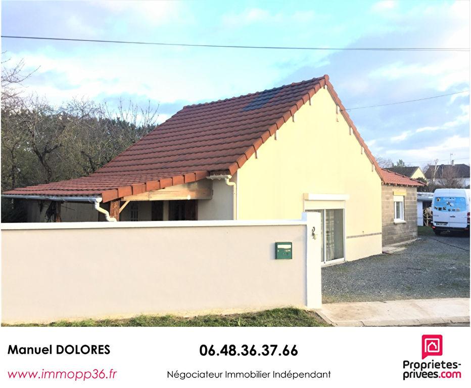 36130 DEOLS - Maison plain pied 3 chambres