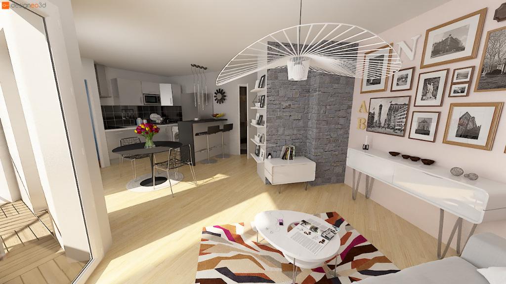 35000 RENNES - Appartement  2 pièce(s) 44 m2