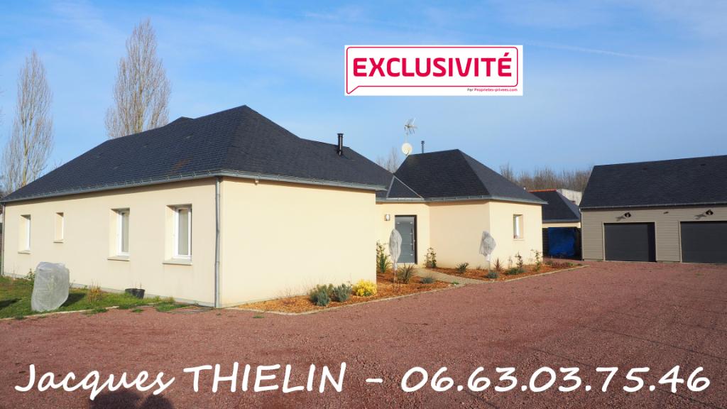 EXCLUSIVITÉ pour ce beau plain-pied récent 168 m² habitables