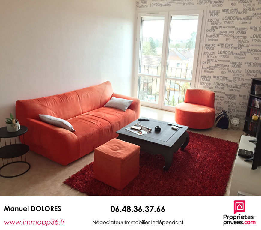 36000 CHÂTEAUROUX - Appartement 2 chambres