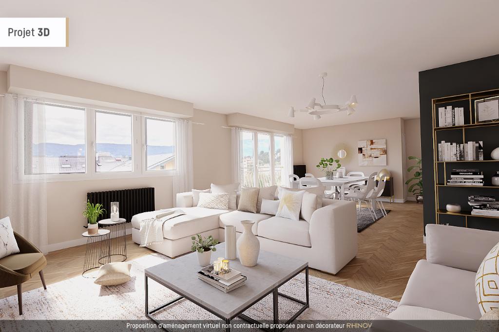 Appartement  Chambery, 4 pièce(s) 100 m2 avec cave et garage