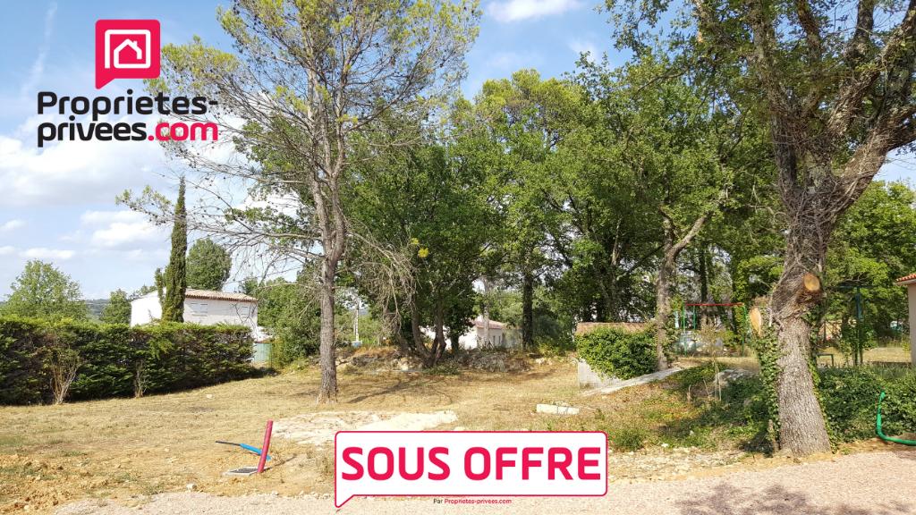 Terrain constructible viabilisé 861 m² Forcalqueiret Var